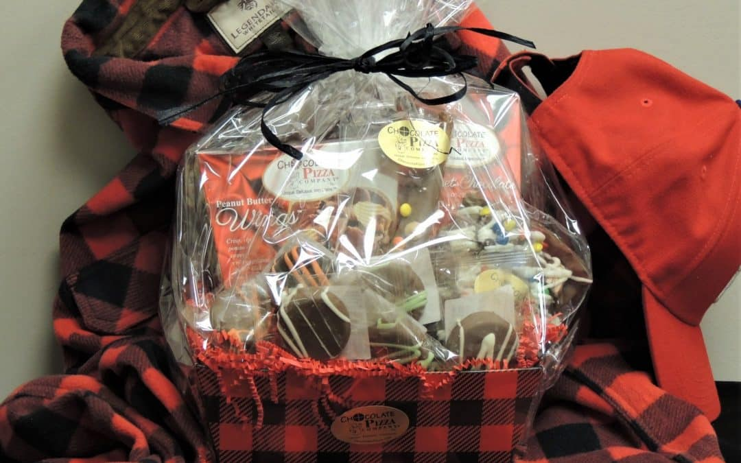 Father's Day Gift Basket in red plaid | Lumberjack is all dad