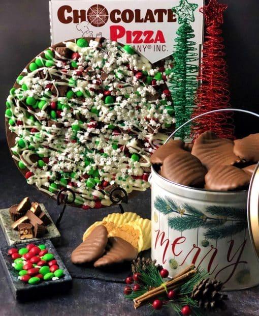 holiday avalanche chocolate pizza combo