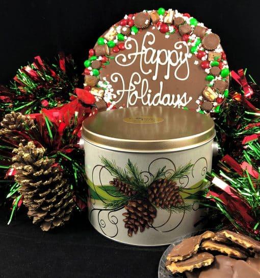 happy holidays chocolate pizza avalanche milk