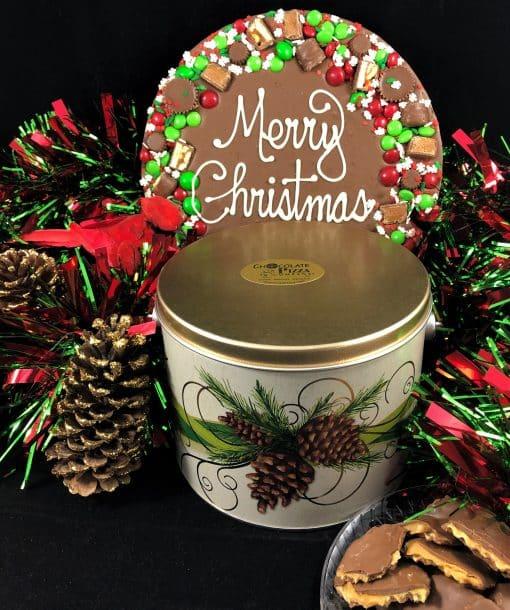 merry Christmas chocolate pizza avalanche milk