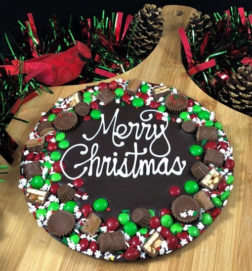 merry Christmas chocolate pizza avalanche dark