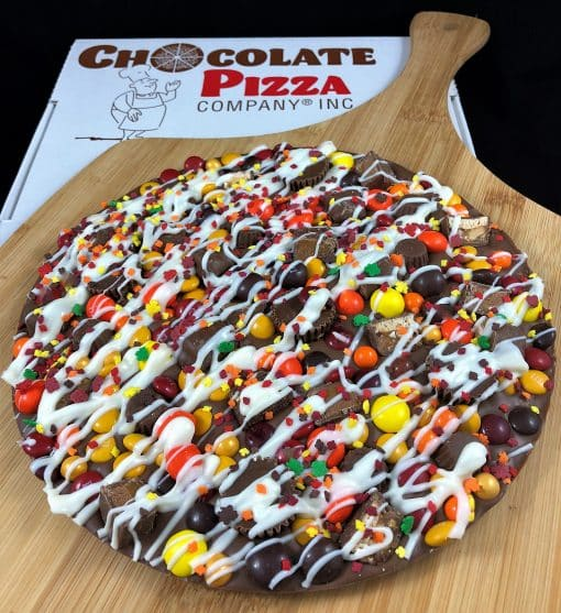 autumn avalanche chocolate pizza