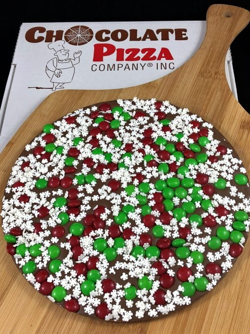 snowflake chocolate pizza
