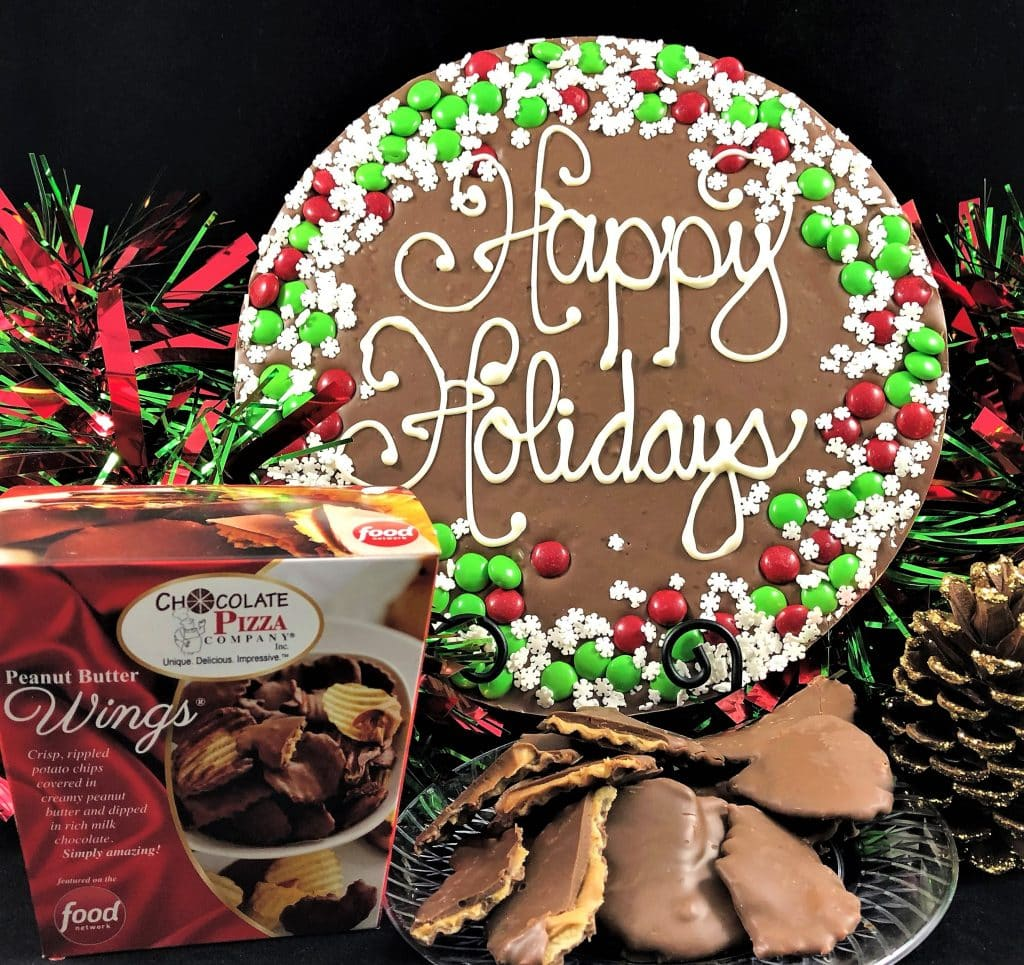 Combo Snowflake Border Chocolate Pizza Amp Peanut Butter Wings