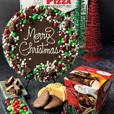 holiday wreath Christmas chocolate