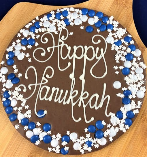 Hanukkah Chocolate Pizza