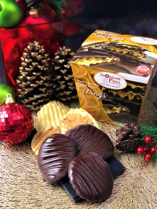 dark chocolate peanut butter wings holiday