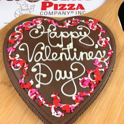 happy valentines day heart chocolate pizza