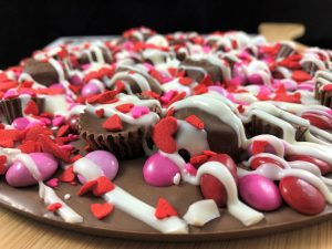 Valentines chocolate avalanche pizza