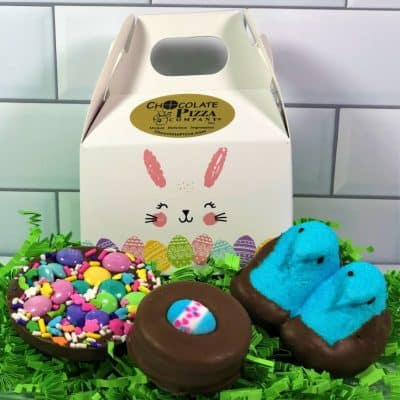 Easter chocolates for kids in mini tote box