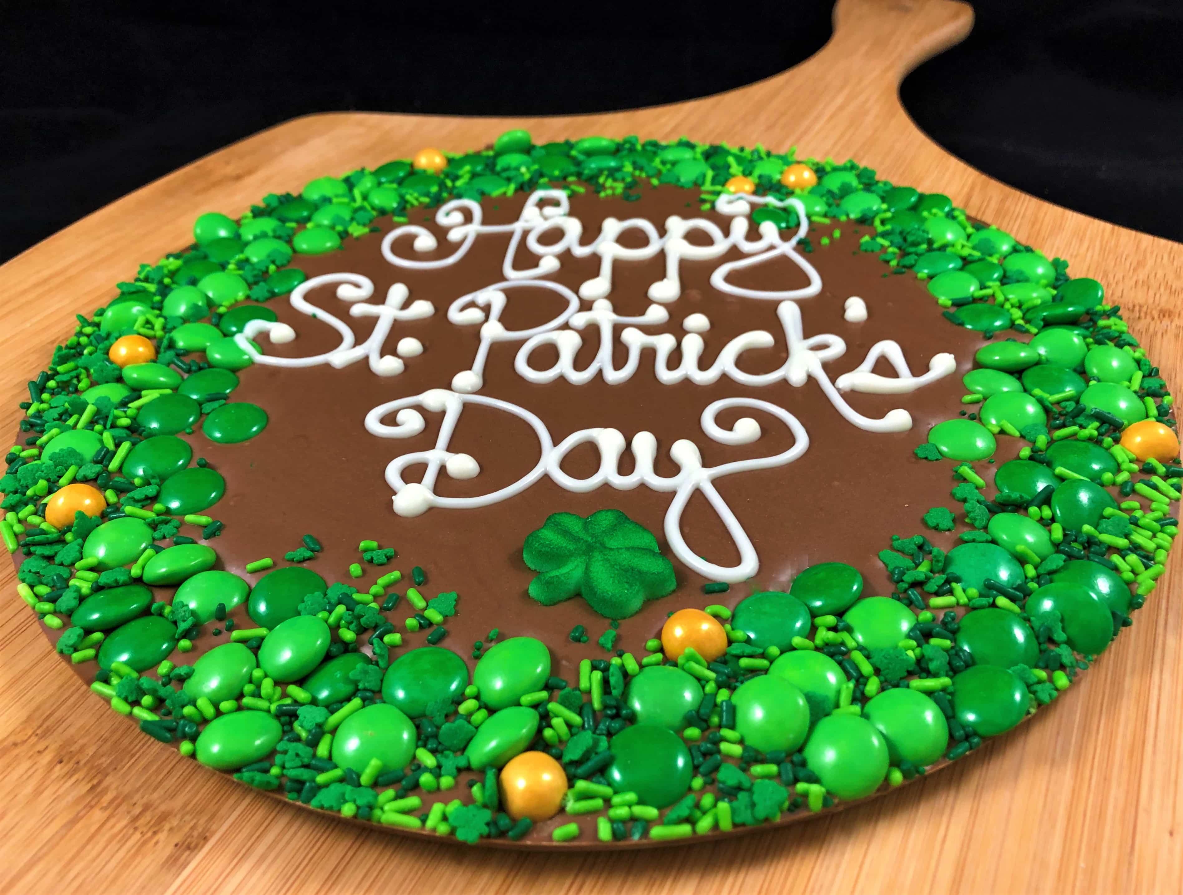 Astonishing St Patricks Day Chocolate Pizza Chocolatepizza Com Funny Birthday Cards Online Necthendildamsfinfo
