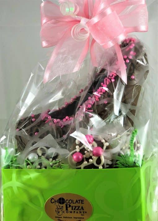 chocolate high heels gift basket