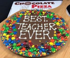 teacher gifts Chocolate Pizza