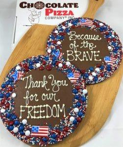 patriotic Chocolate Pizza