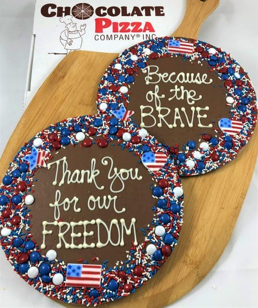 patriotic Chocolate Pizza