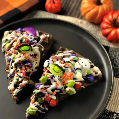 spooky chocolate pizza slice