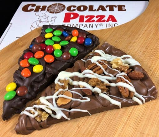 chocolate pizza slice