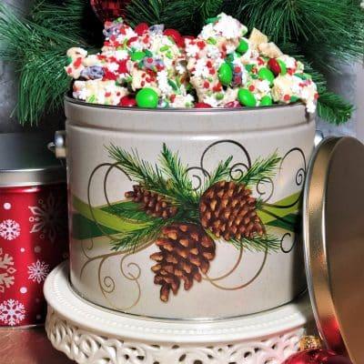 Christmas tins holiday munch