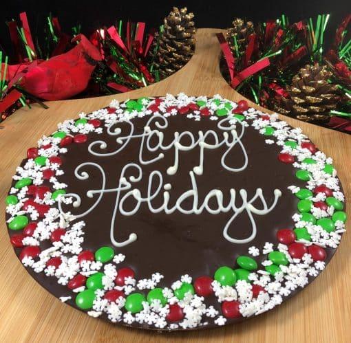 dark - happy holidays - snowflake border - sneel xmas