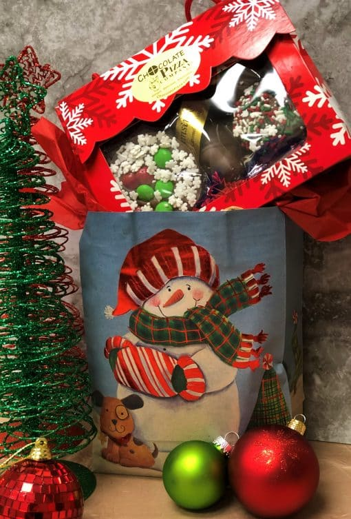 handled tote snowflake - peek Christmas bag