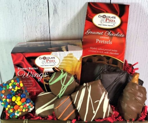 chocolate cravings gift basket with assorted chocolates