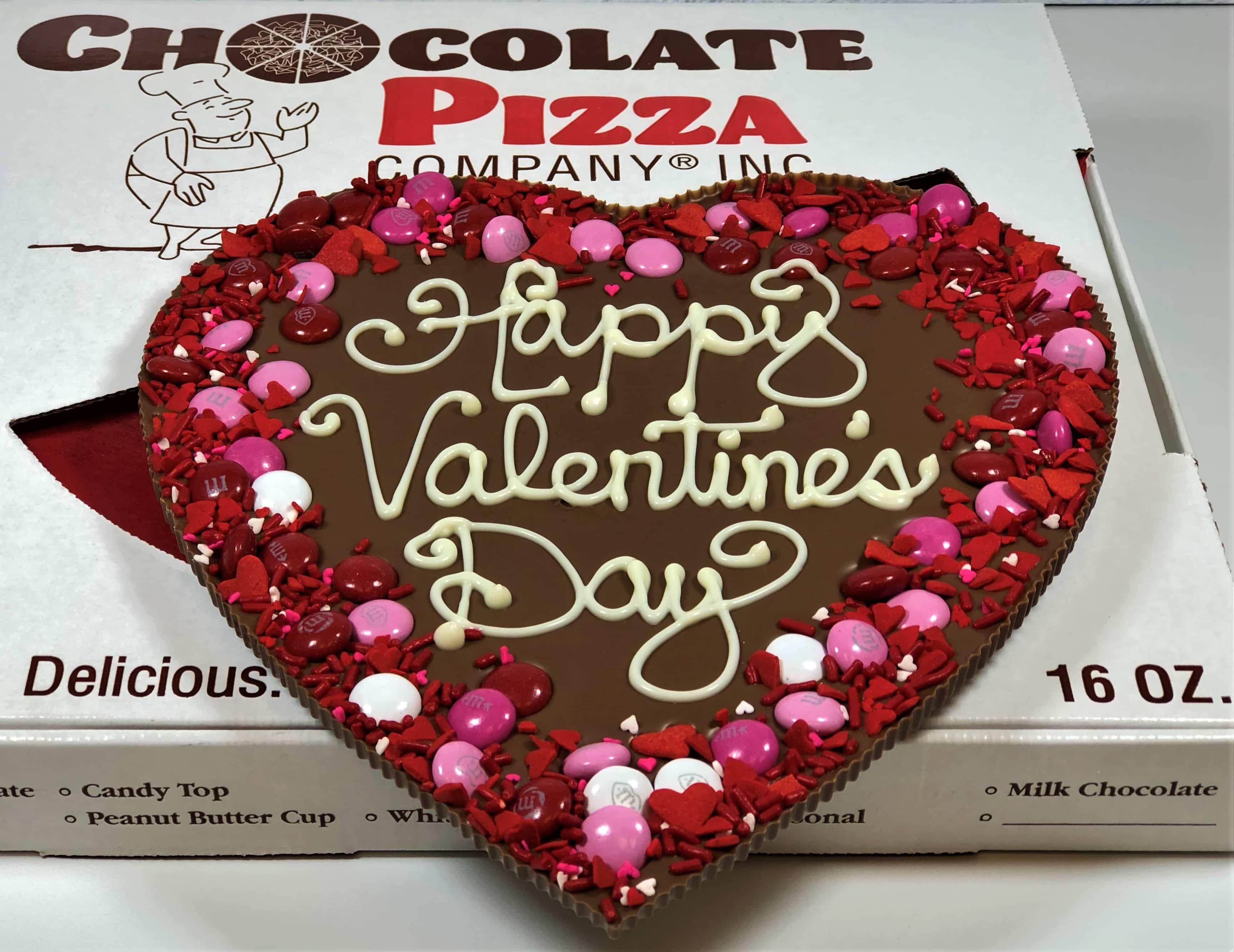 Valentine S Day Chocolate Heart Pizza Pie