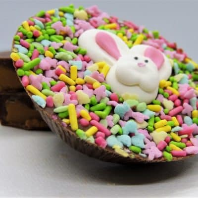 Easter bunny chocolate peanut butter cup