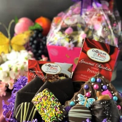 gift basket for mom with chocolate treats