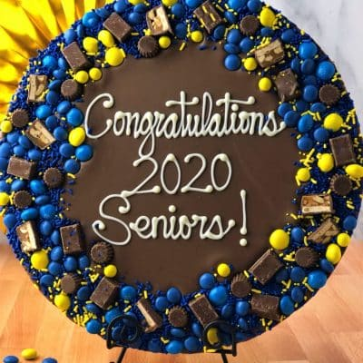 graduation gift chocolate pizza 2020 seniors