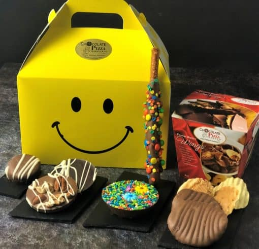 smiles across the miles gift tote with chocolates