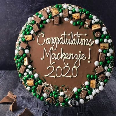 graduation gifts idea custom chocolate pizza