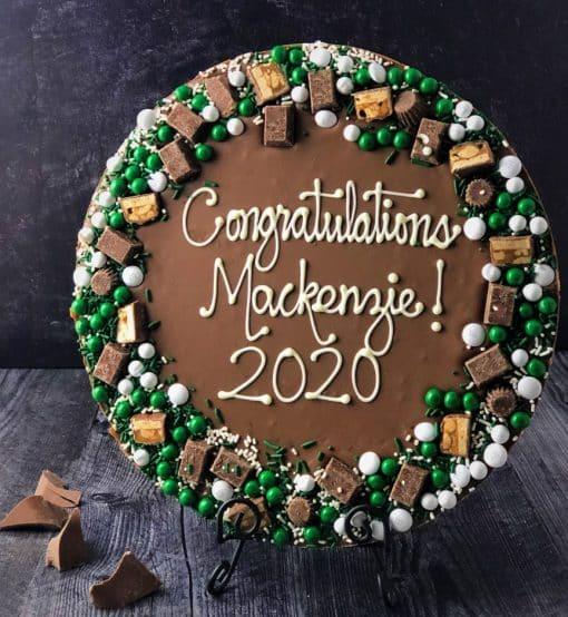 graduation gift idea custom chocolate pizza
