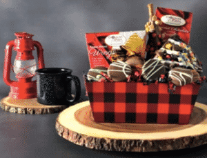 Lumberjack style gift basket for Father's Day