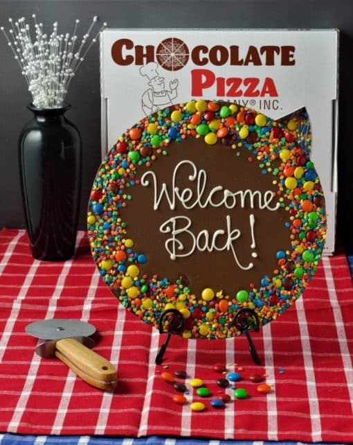 welcome back chocolate pizza