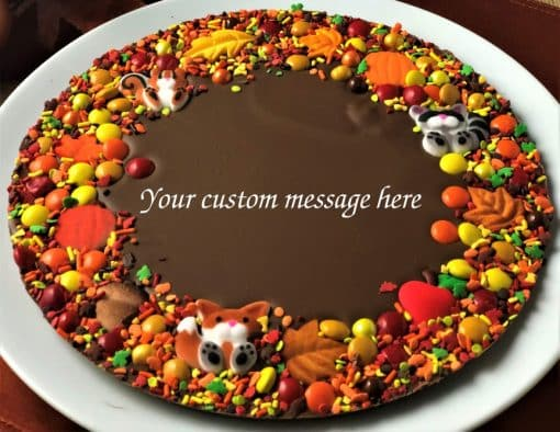 custom autumn Chocolate Pizza