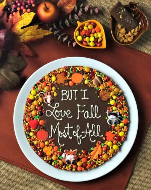 customized Autumn Chocolate Pizza
