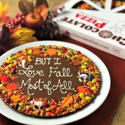 Autumn is a custom Chocolate Pizza
