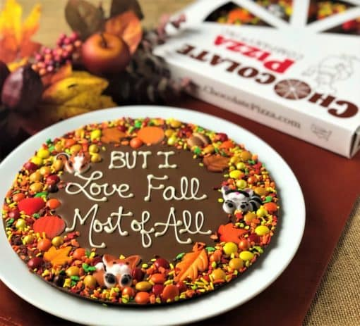 Autumn is a custom Chocolate Pizza