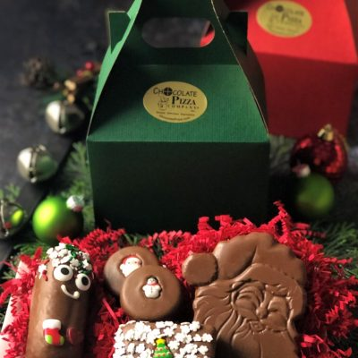 secret Santa gift tote with chocolate