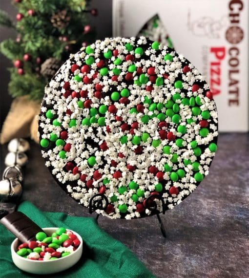 snowflake chocolate pizza dark chocolate