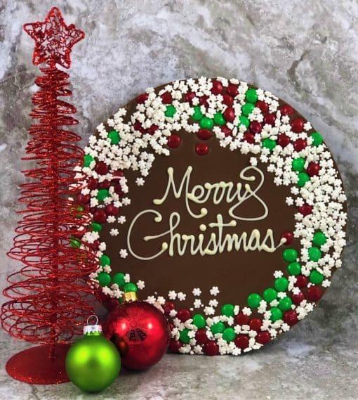 chocolate pizza merry Christmas