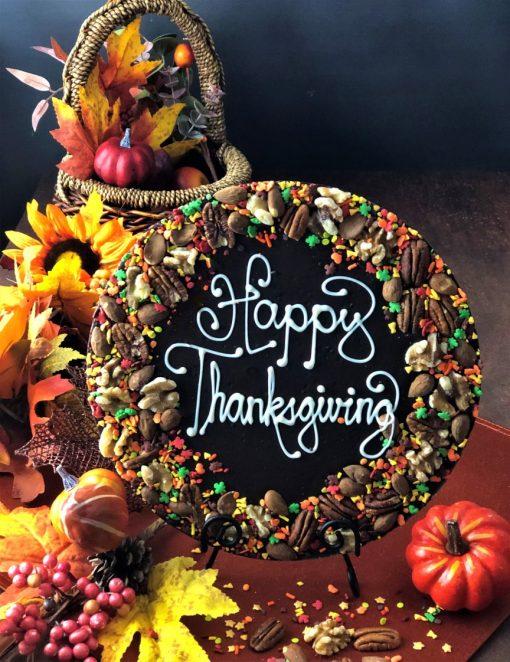 Happy Thanksgiving Chocolate Pizza