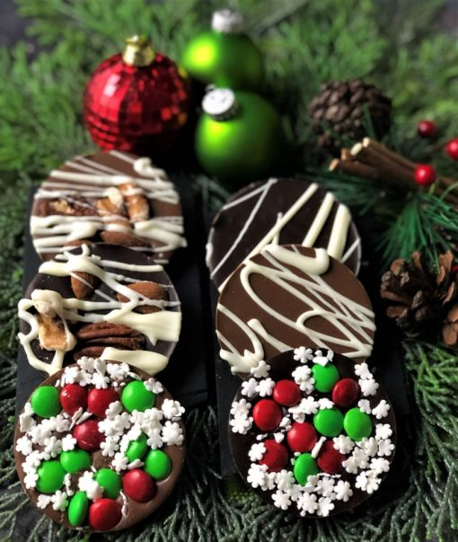 mini chocolate pizzas for holiday tote