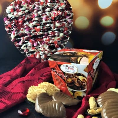 cookies and dream combo with heart Chocolate Pizza and Peanut Butter Wings
