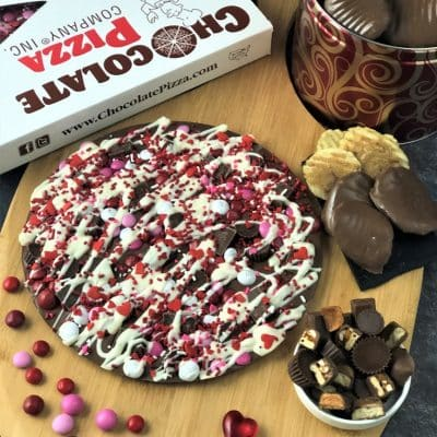chocolate pizza and peanut butter wings combo is love in every bite