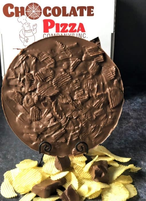 potato chips and chocolate pizza