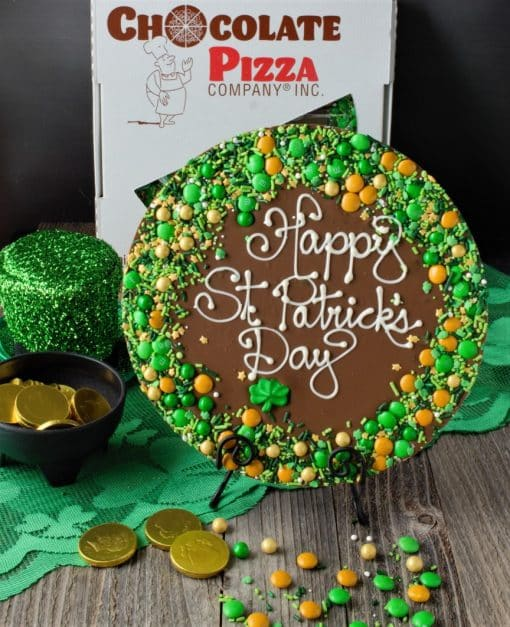 happy st patricks day chocolate pizza