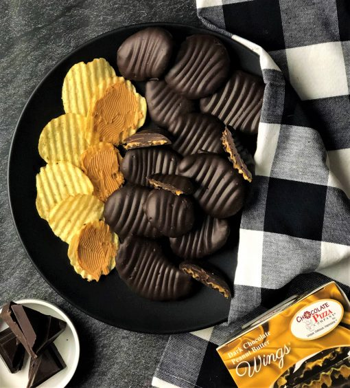 Dark Chocolate and Peanut Butter covered potato chips