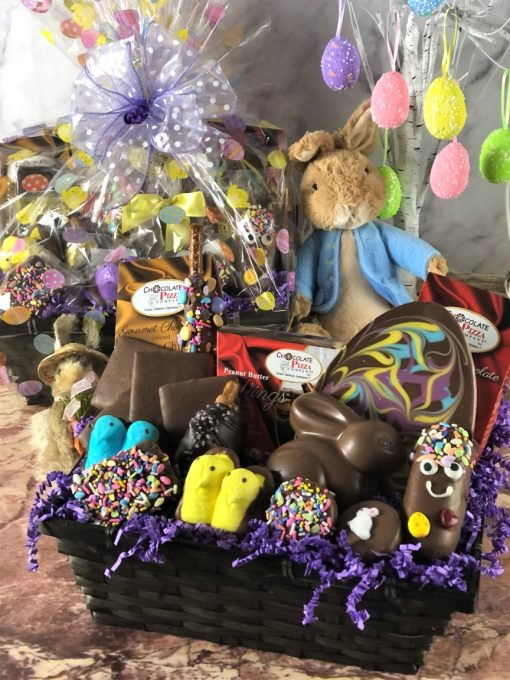best Easter basket filled with chocolate treats