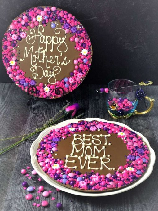 2 chocolate pizzas for mothers day
